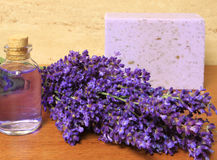 Lavender cosmetic Royalty Free Stock Photography