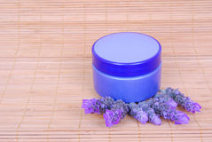 Lavender cosmetic creme Royalty Free Stock Photography