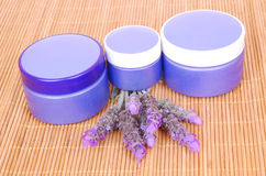 Lavender cosmetics Royalty Free Stock Photos