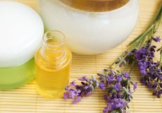 Lavender cosmetics Stock Image