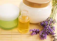 Lavender cosmetics Stock Photography