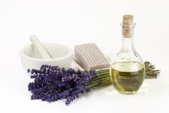 Lavender Cosmetics Royalty Free Stock Photography