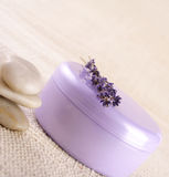 Lavender cream Stock Photos