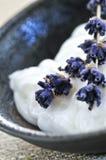 Lavender cream Royalty Free Stock Image