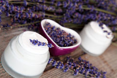 Lavender cream Royalty Free Stock Photos