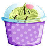 A lavender cupcake container Royalty Free Stock Photos
