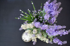 Lavender decoration top view. Top view of the lavender decoration royalty free stock image