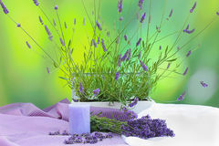Lavender and decorations Royalty Free Stock Image
