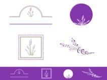 Lavender Design Set Stock Image