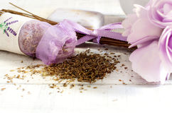 Lavender dried seeds Royalty Free Stock Photos