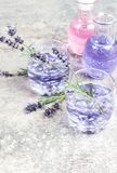 Lavender drink glass Summer tonik lemonade Royalty Free Stock Photo