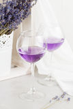 Lavender drinks in glass Royalty Free Stock Images