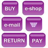 Lavender e-shop icons Royalty Free Stock Image