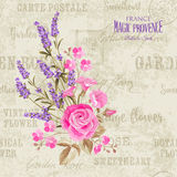 The lavender elegant card Royalty Free Stock Photos