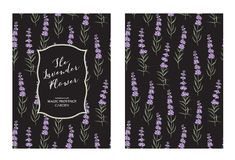 The lavender elegant card Royalty Free Stock Image