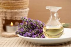 Lavender essence Stock Photos