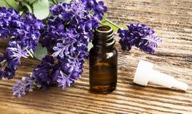 Lavender Essence Bottle Stock Photos