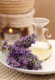 Lavender essence oil Royalty Free Stock Photo