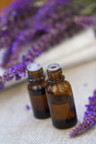 Lavender essential aroma oil Stock Images