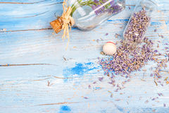 Lavender essential  background Royalty Free Stock Photo