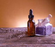 Lavender essential oil Royalty Free Stock Images