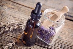 Lavender essential oil Stock Photo