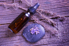 Lavender essential oil Stock Photography