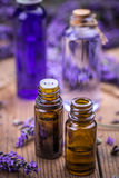 Lavender and essential oil royalty free stock photos