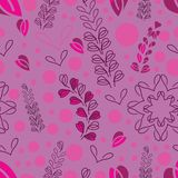 Lavender Field-Love in Parise Seamless Repeat Pattern Background vector illustration