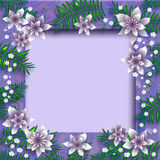 Lavender floral frame Stock Photos