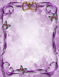 Lavender Floral Wedding Invitation Royalty Free Stock Images