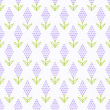 Lavender flower pattern Stock Photos