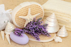 Lavender Flower Spa Royalty Free Stock Photos
