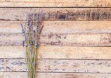 Lavender flower on wooden table Royalty Free Stock Images