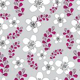 Lavender and Flowers-Love in Parise Seamless Repeat Pattern Background royalty free illustration