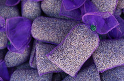 Lavender flowers in mesh pouches Stock Image
