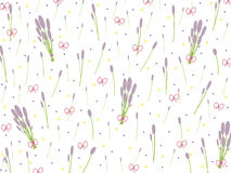 Lavender flowers pattern with bows Stock Image