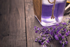 Lavender flowers and perfume Royalty Free Stock Images