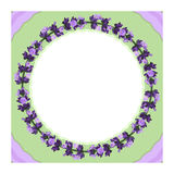 Lavender flowers ring Stock Photo
