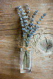 Lavender flowers. On rustic wooden background Stock Photo
