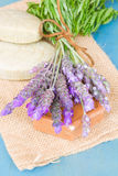 Lavender flowers and soap Royalty Free Stock Image