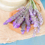 Lavender flowers and soap Royalty Free Stock Photo