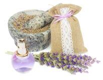 Lavender flowers spa Stock Photos