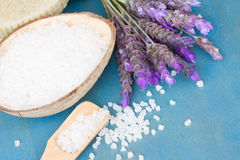 Lavender flowers spa threatment Stock Photo