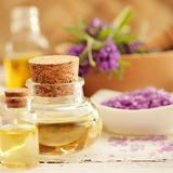 Lavender fragrance oil Royalty Free Stock Images