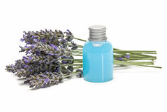 Lavender and gel. Royalty Free Stock Photo