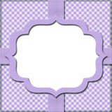 Lavender Gingham with Ribbon Background. For your message with copy-space Royalty Free Stock Photos