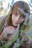 Lavender girl Royalty Free Stock Image