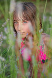 Lavender girl Royalty Free Stock Images