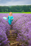 Lavender girl Stock Photos